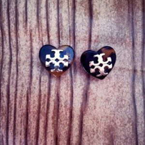 Tory Burch Heart Studs